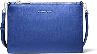 Michael Kors Adele Two-Tone Pebbled Leather Crossbody Bag - Oxford Multi