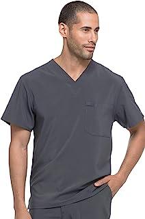 Dickies EDS Essentials Men's V-Neck Solid Scrub Top Medium Pewter