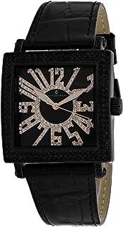 Christian Van Sant Women's Lumina Stainless Steel Quartz Leather Strap, Black, 20 Casual Watch (Model: CV0244)