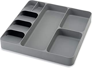 Joseph Joseph 85127 DrawerStore Kitchen Drawer Organizer Tray for Cutlery Utensil and Gadgets, Gray