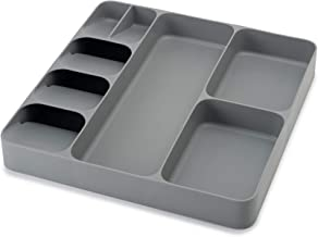 Joseph Joseph 85127 DrawerStore Kitchen Drawer Organizer Tray for Cutlery Utensil and Gadgets, Gray