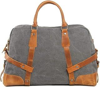 Vintage Travel Bag for Business Trip Sports Gym Bag Wear Resistant Waterproof & Durable Carry On Satchel High Capacity Duffle Bag Unisex