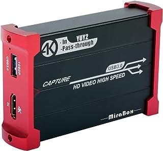 MiraBox キャプチャカード USB 3.0 HDMIゲームキャプチャカードデバイス HDMIループアウト対応 HDビデオ 1080P Windows 7 8 10 Linux YouTube OBS Twitch PS3 PS4 Xbox...