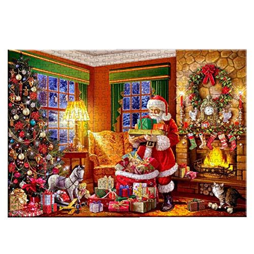 AIKY Puzzle Natale 1000 Pezzi, Puzzle Natalizi per Adulti, Tema Natalizio Puzzle 1000 Pezzi Babbo Natale, Gioco Adulti Divertente di Memoria Puzzle Giocattolo per Bambini