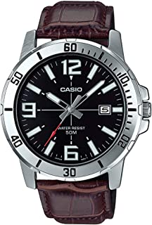 Casio MTP-VD01L-1BV Men's Enticer Stainless Steel Black...