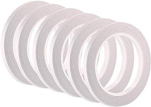 FEPITO 6 rollen dubbelzijdige tape zelfklevende tape voor naaien, ambachten, handwerk, 6 mm x 25 meter per rol