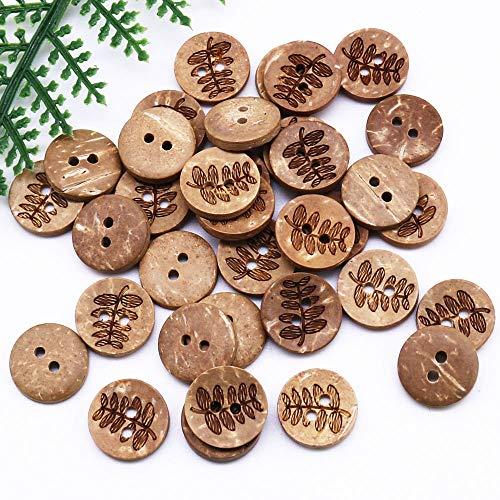 Dfgh Kleding Accessoires 2-gaats Button kokosnoot kom Button Houten Button Children's T-shirt Trui Button Coconut Button (Size : 30PCS)