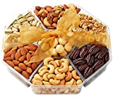 Holiday Nuts Gift Basket - Gourmet Food Gifts Prime Delivery - Christmas, Mothers & Fathers Day Fruit Nut Gift Box, Assortment Tray - Birthday, Sympathy, Get Well Men, Woman & Families- Hula Delights