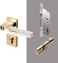 LHHZDH Moderne Crystal textuur Mute Kamer Deurslot Handvat Mode Interieur Deurslot Anti-diefstal Gate Lock Meubels Hardwar...