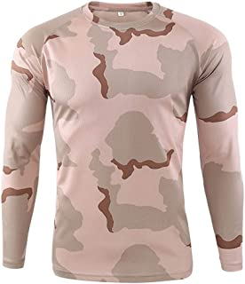 Sunward Men Tops Quick-Drying Camouflage Long Sleeves Blouse T-Shirts Outdoor