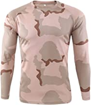 iLOOSKR Autum Winter Plus Size Men's Outdoor Quick-Drying Camouflage Long Sleeves Tops Blouse T-Shirts