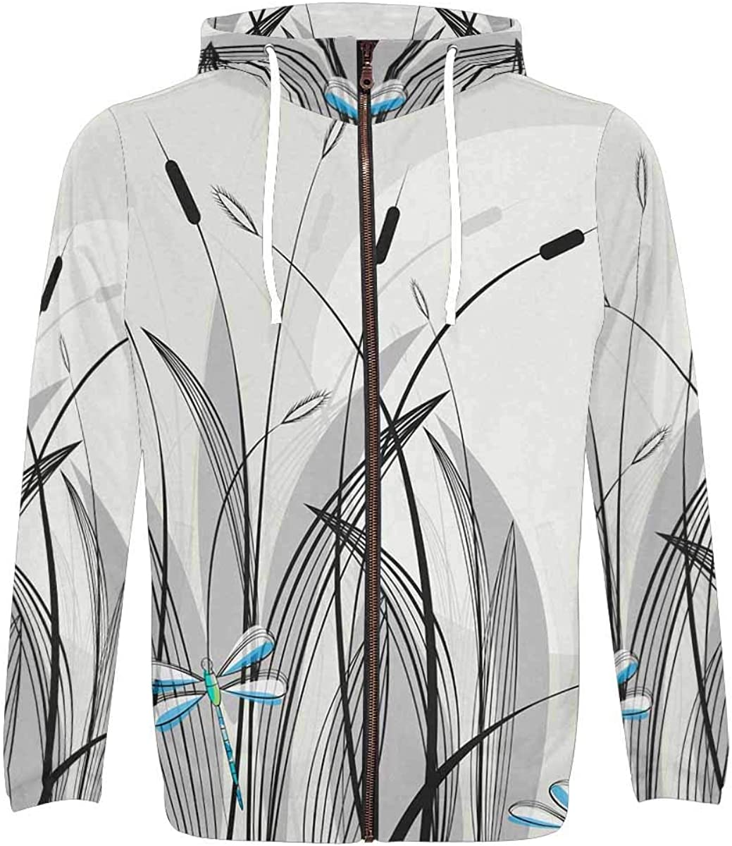 InterestPrint Men's Lightweight Full Zip Hoodie with Sleeve Long Max 59% Super sale period limited OFF