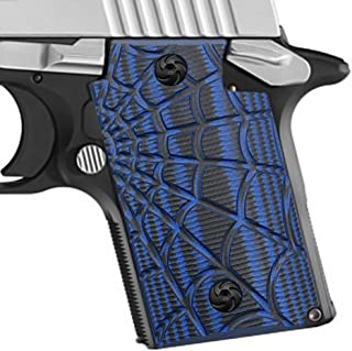 Cool Hand G10 Grips for Sig Sauer P938, Screws Included, Spider Web Texture