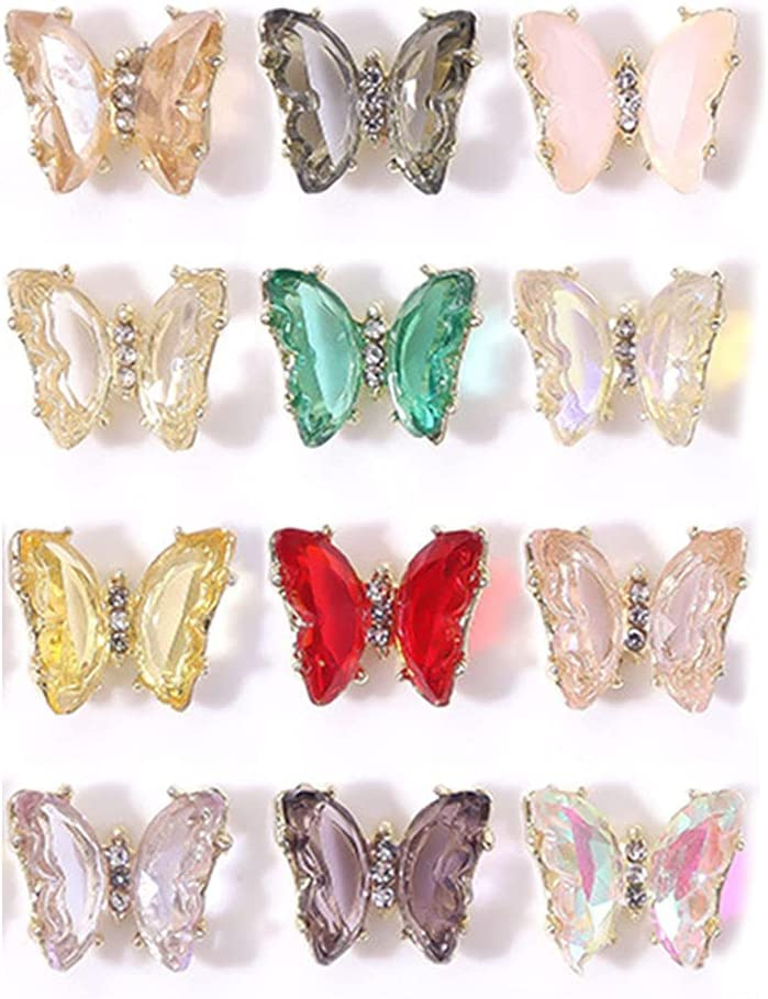 2021 autumn and winter new 不适用 Nail Rhinestones Crystals Gems Shiny Butterfly Glass Classic J