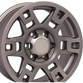 OE Wheels LLC 17 Inch Fits Toyota Tacoma Sequoia FJ Cruiser Tundra 4Runner Lexus GX HL450 TRD H Spoke Style TY16 Satin Graphite 17x7 Rim Hollander 75167