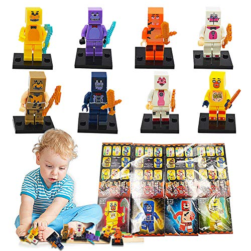 BESTZY Spielzeugfiguren-Fünf Nächte bei Toy Bear - Figuren Modell Set Pack of 8,Bär Figuren Spielzeugpuppe