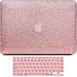 B BELK Compatible with MacBook Air 13 Inch Case Model A1466 A1369 Older Version 2010-2017 Release, Bling Sparkly Leather Protective Hard Shell Case with Keyboard Cover, MacBook Air 13.3 Inch Case