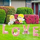 Jangostor 6 Pezzi di Valentines Decorazioni Cartello da Giardino con Cupido Love Pali per ...
