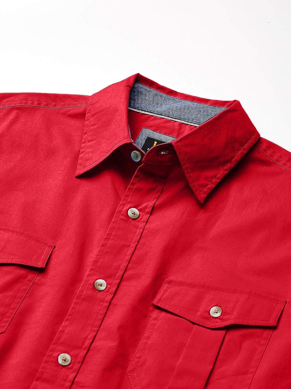 Lee Men's Short Sleeve Button Down Dress Shirt Camp Regular Big Tall