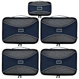 PRO Packing Cubes for Travel – Mesh, Ultralight Packing Cubes Set of 5 Pieces - YKK Zippers, Hi-Tech Nylon Fabric - Travel Luggage Packing Organizers for Backpack, Luggage, Carry-on, Suitcase