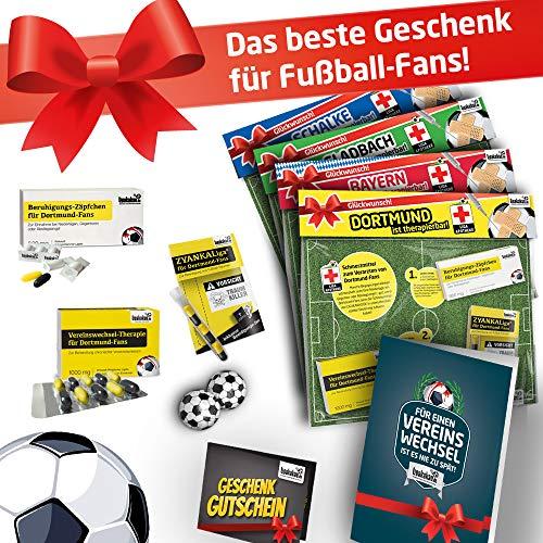 Bundesliga Notfall-Set | Witziges Männergeschenk für Fußball-Fans | Die LIGApotheke für 42 Top-Vereine | Süße Schmerzmittel + Karte | Ehe-Mann Bester Freund Opa Bruder Vatertag