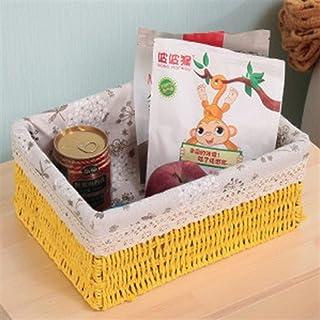 KKGASSAB Panier de Rangement à la Main Panier de Rangement Rattan Tissu Table à café Table Basse Table à Coucher Toy Toy P...