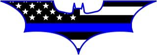 Morale Tags Thin Blue Line Bat Batman Police Support Vinyl Decal Sticker for Cars Trucks Laptops etc. (Black and White) (Black and White)