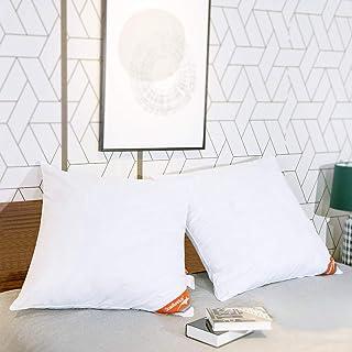 ComfortAce® Cervantes 80 x 80 cm Lot de 2 oreillers de qualité supérieure avec housse en coton, tissu doux et respirant, g...
