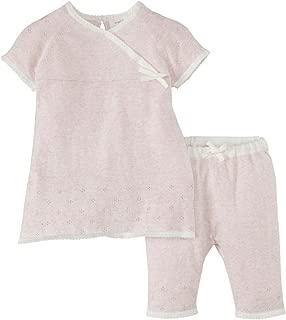 Angel Dear Coastal Garden Kimono Dress Set (Baby) - Pink-3-6 Months
