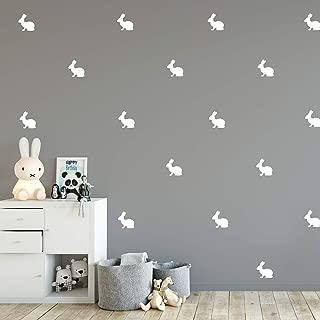 Set of 12 Vinyl Wall Art Decals - Bunnies - 4