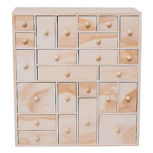 Superieur HYGGEHAUS Wooden Storage Organizer   24 Drawer | Craft Storage | Apothecary  Cabinet | Desktop Organizer