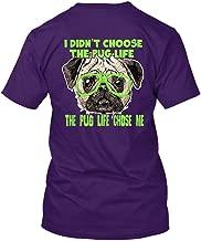 Addblue The Pug Life Chose Me Unisex Short Sleeve Shirt, T Shirts