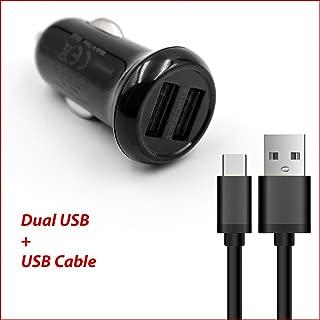 Dual Ports USB Car Charger Adapter + USB Charging/Data Cable for Verizon Jetpack 4G LTE 890L / Jetpack 6620L / Ellipsis Jetpack MHS800L / Jetpack MHS815L / Jetpack AC791L / Jetpack MHS900L