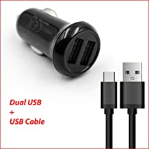 For Straight Talk Huawei Sensa LTE H710VL, Ascend Plus, H881C Ace, W1, Inspira H867G Life-Tech(TM) Dual Ports USB Car Charger Adapter + USB Charging/Data Cable