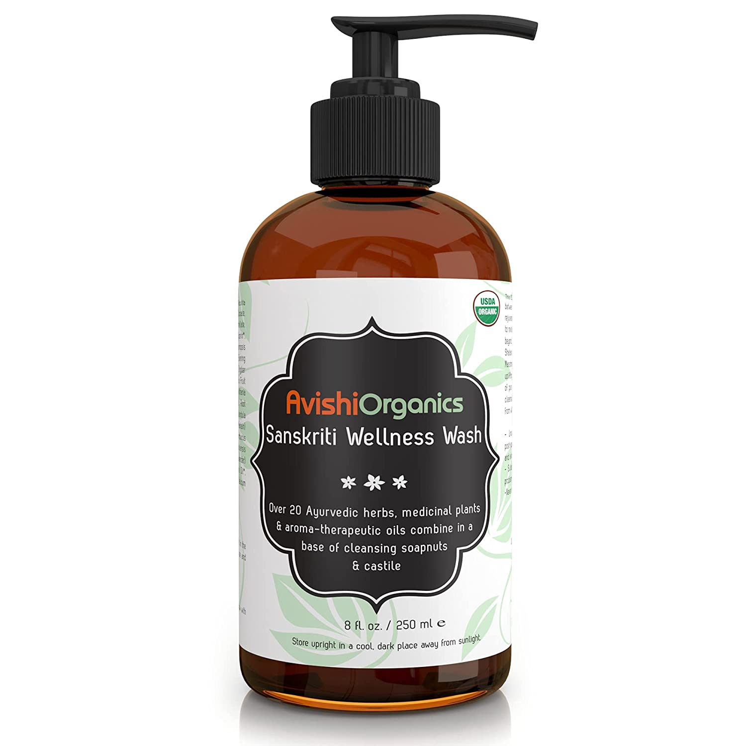 Organic Luxury Wellness Body Wash - Infused with 20+ Deeply Nourishing Herbs to Soften, Smoothen, Tone & Hydrate | Nourish & Heal your skin while you bathe |
