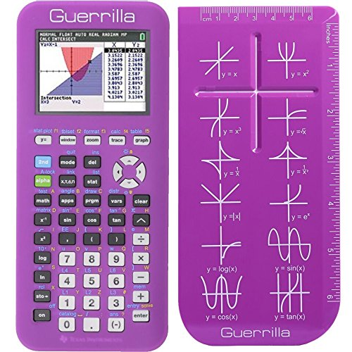 Guerrilla Silicone Case for Texas Instruments TI-84 Plus CE Color Edition Graphing Calculator With Screen protector and Graphing Ruler, Purple Photo #5