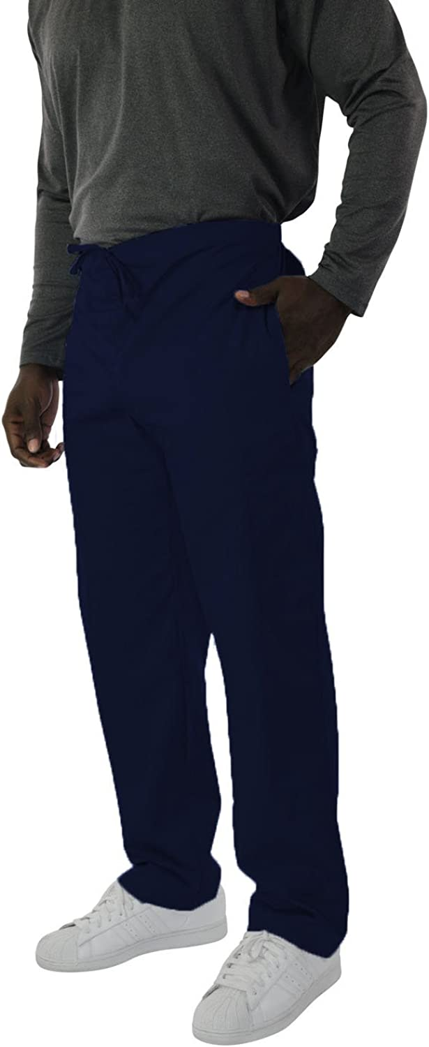 Spectrum Trouser/Cargo/Scrub Pants with Drawstring, Elastic Waist, 2 Side and One Back Pocket for Outdoor and Casual Wear - Small Scrub Pants Tall - Navy Blue