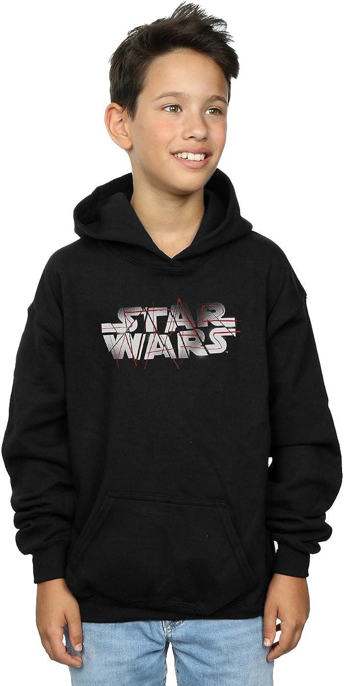 Star Wars Boys The Last Jedi Spray Logo Hoodie 9-11 Years Black