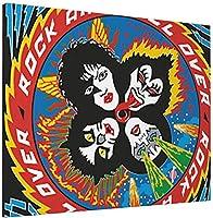 Kiss Band 3 アートパネル インテリア アートポスター 壁掛け絵画 インテリア 絵画 アートフレーム モダン キャンバス絵画 装飾画 部屋飾り 現代 木枠セット