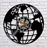 wtnhz LED-Earth 3D Reloj de Pared Disco de Vinilo Colgante de Pared Earth Art decoración Reloj Reloj de Pared Hecho a Mano Maestro