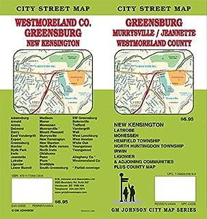 Westmoreland Co. / Greensburg / Jeannette / Murrysville, Pennsylvania Street Map