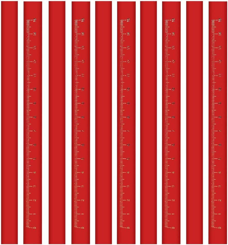 BUSHIBU Award-winning store Flat Limited time sale Premium Quality Pencil(Red) Medium Carpenter's