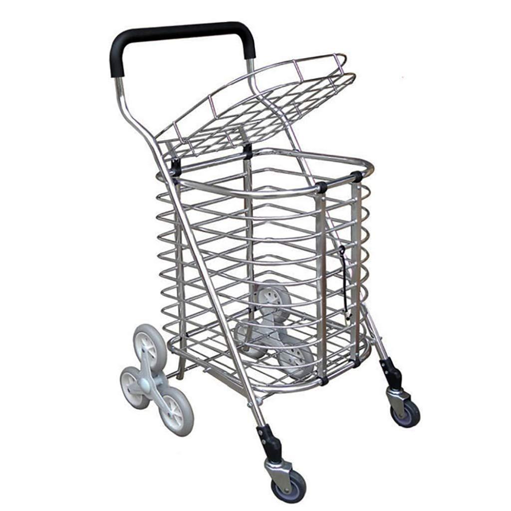 Carrito de compras Sellado las escaleras para comprar un camión de comida Remolque Plegable Carrito de compras portátil Supermercado Carritos Un carrito pequeño Plato Carrito Escalera de la carretilla: Amazon.es: Deportes y