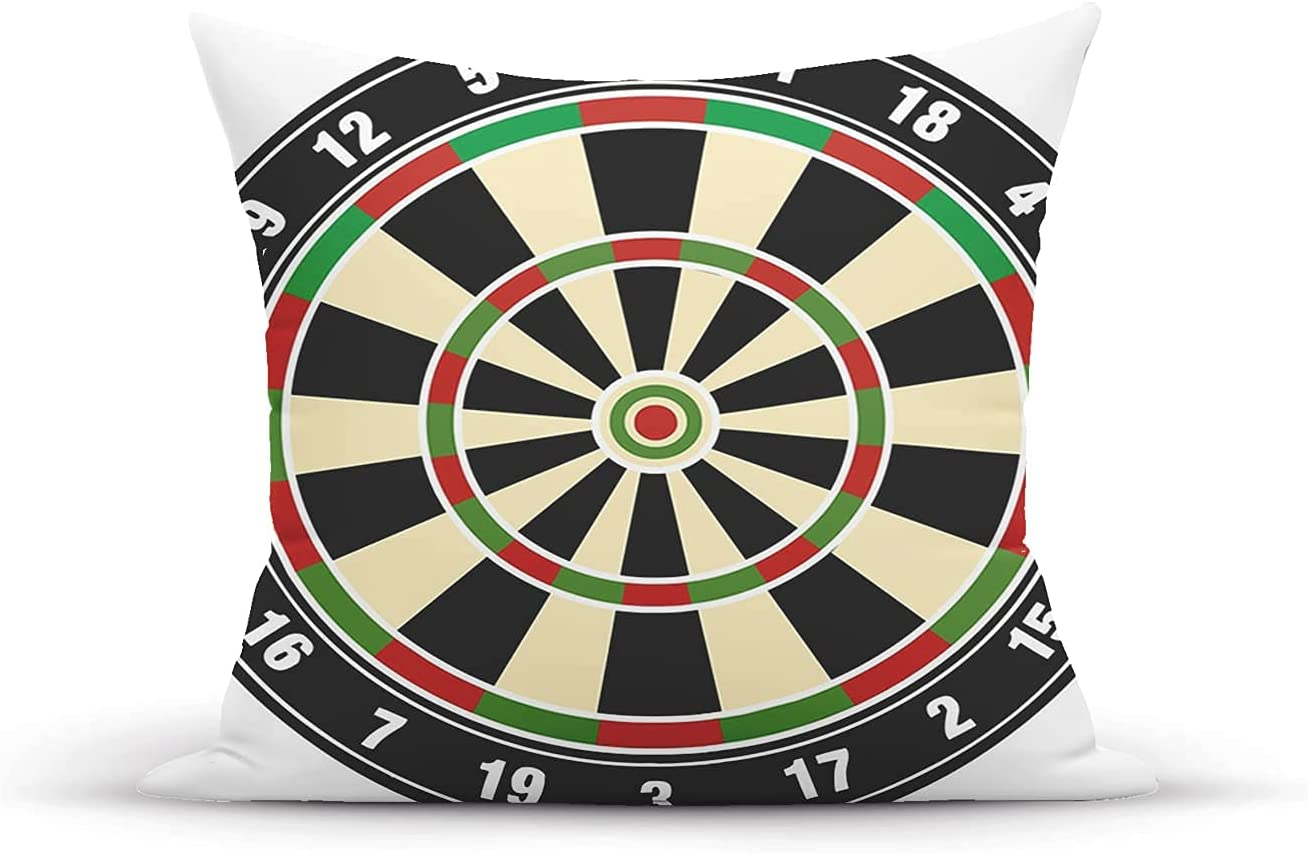 National products Decorative Throw Pillow Cover Case Acc Max 55% OFF Board Sports Dart Numbers