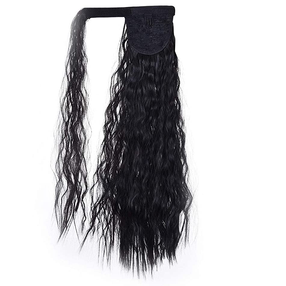 20 Inch Corn Wave Ponytail Extension Wrap Around Long Wig For Women