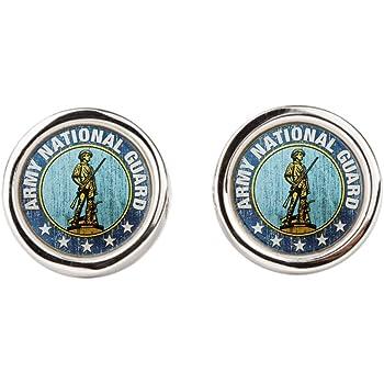 Army National Guard Emblem Oval Royal Lion Cufflinks