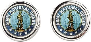 Cufflinks (Round) Army National Guard Emblem