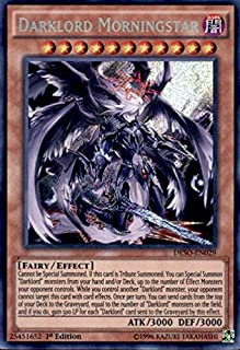 Yu-Gi-Oh! - Darklord Morningstar (DESO-EN029) - Destiny Soldiers - 1st Edition - Secret Rare