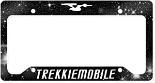 CafePress Trekkiemobile Star Trek Aluminum License Plate Frame, License Tag Holder