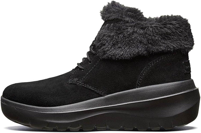 Women's shoes Fashion Velvet Booties Light Snow Boots Walking shoes Warm Velvet Slow-Motion shoes & Handbags (color   Black, Size   35.5)
